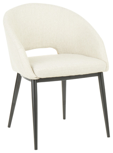 Renee Contemporary Chair, Beige Fabric