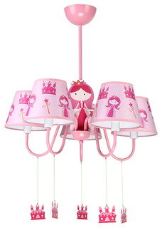 5 lights modern style pink chandelier light with girl ornaments contemporary kids ceiling lighting by parrotuncle adorable pink chandelier