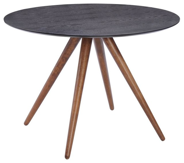 Modern Style Wood Dining Table Black Midcentury Tables