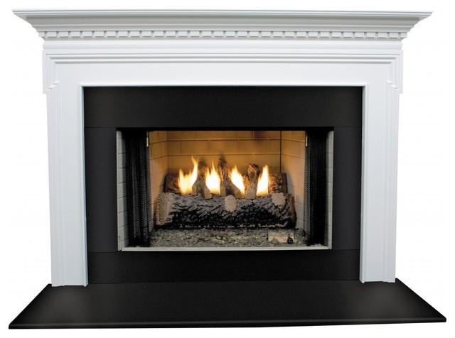 "Mt. Vernon Mdf Primed White Fireplace Mantel Surround, 42""."