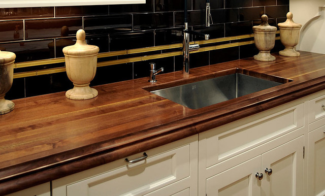 kitchen cabinets hickory walnut wood kitchen countertop with sink by grothouse 3017