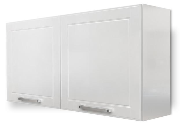 "Steel Kitchen Cabinet, Wall 2 Doors, 47""w X 24""h White."