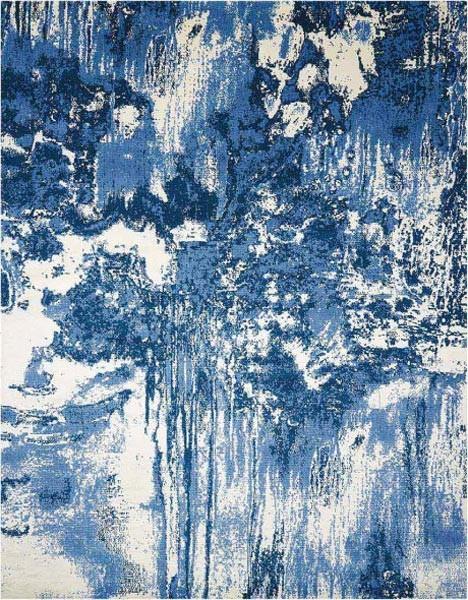 Twilight TWI24 Rug, Blue/Ivory, 366x457 cm