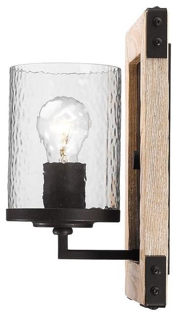 Rustic Bronze Wall Sconces : 1 Light Standard Bulb Wall Sconce, Rustic Bronze - Rustic - Wall Sconces - by 1800Lighting