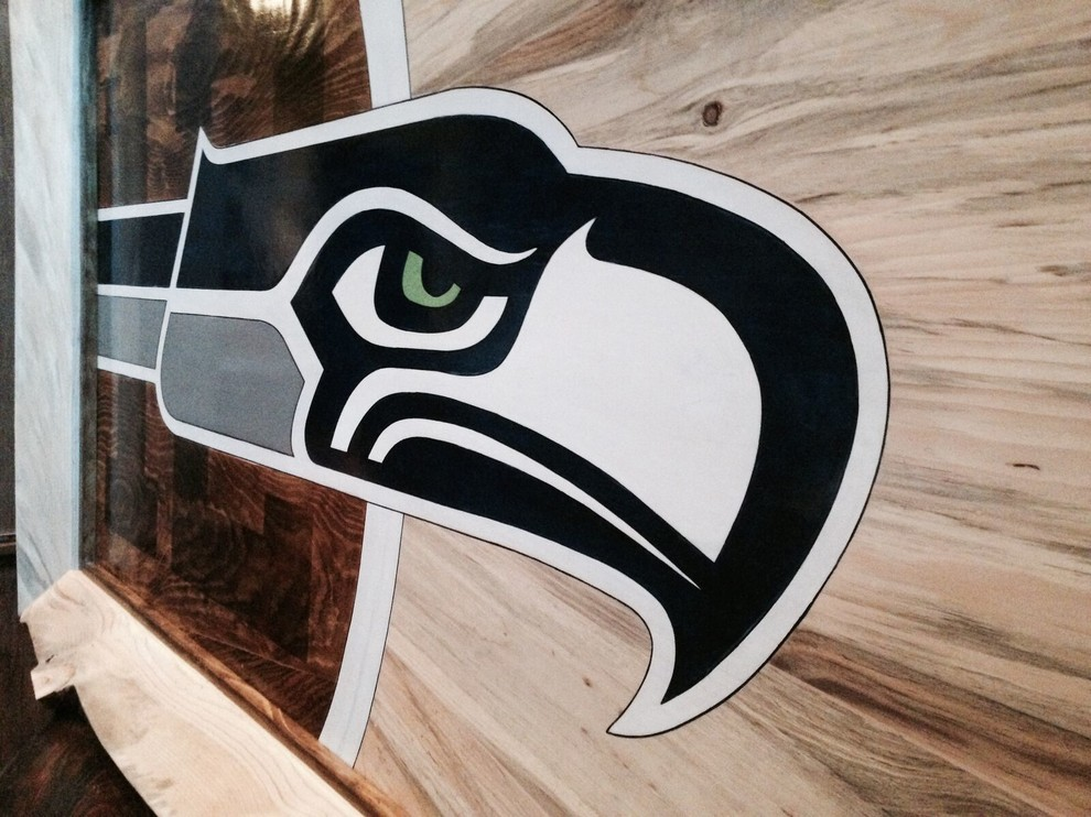 Custom Seahawks Logo Wood Design