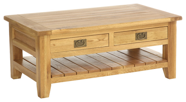 Vancouver Coffee Cocktail Table With Two Drawers Beach Style Coffee Tables By Endygo