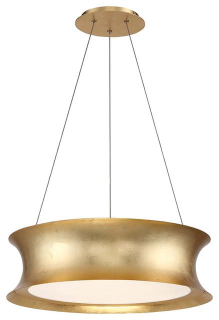 Modern Forms Tango LED Pendant, Gold Leaf