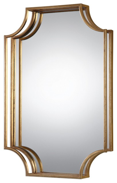 Uttermost Lindee Gold Wall Mirror.