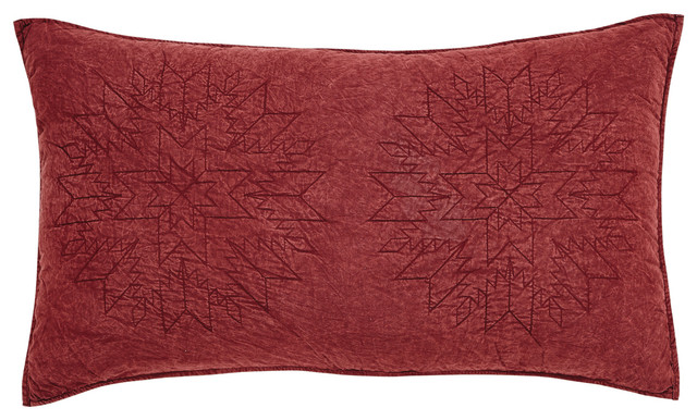 Cheyenne American Red Standard Sham - Southwestern - Pillowcases And Shams - by VHC Brands