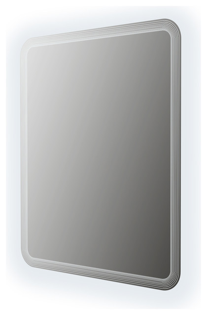 Baden Haus Rounded Corner Mirror With Led Frame Contemporary Bathroom Mirrors By Baden Haus