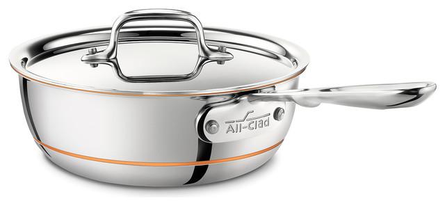 All-Clad Copper Core 2 Qt. Saucier.