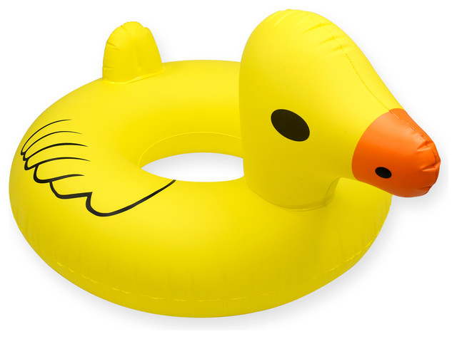 GoFloats Giant Duck PartyTube Inflatable Raft, Adult Size  Contemporary Pool Toys And