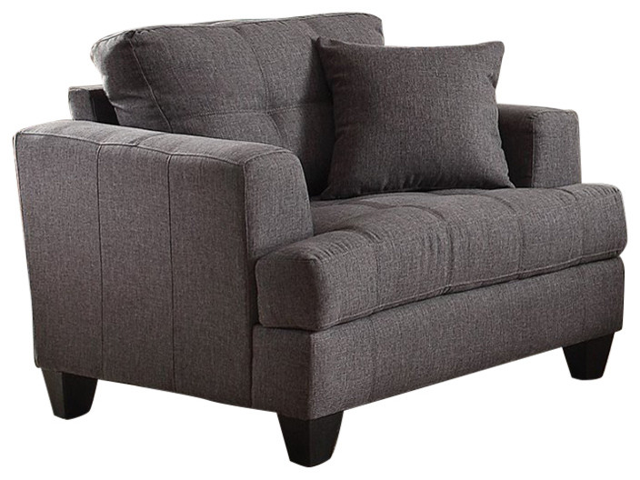 Coaster Samuel Sofa Upholstered Chair With Tufted Cushions Charcoal