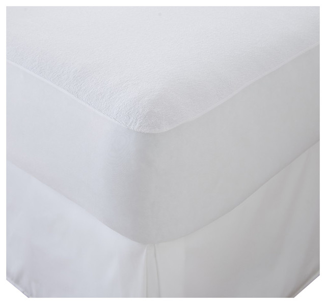Home Collection Waterproof Mattress Protector, Twin, White