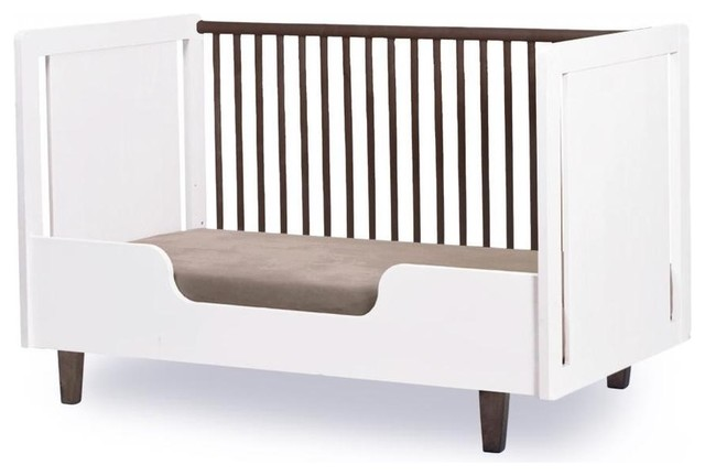 oeuf sparrow crib review gray grey rhea conversion kit by modern bed rails