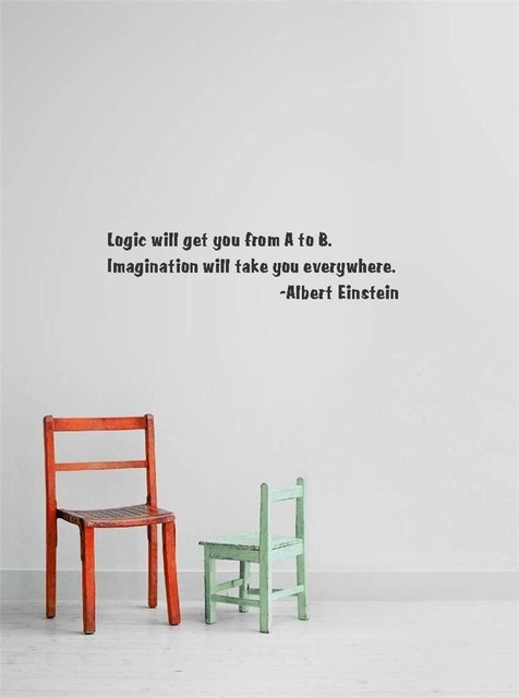 Logic Will Get You From A To B Decal 10x20 Contemporary Wall Decals By Design With Vinyl