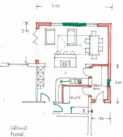 Kitchen Diner Living Layout Plans