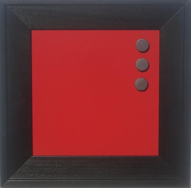 retro color color magnetic dry erase board brilliant red 8x8 modern