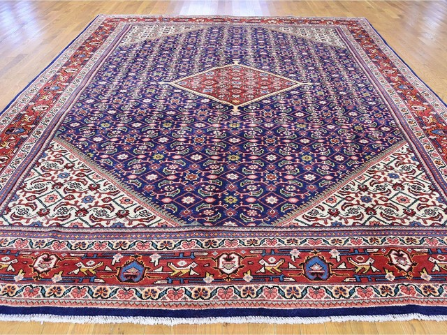 "Persian Mahal Full Pile Thick and Plush Hand Knotted Oriental Rug, 9'5""x12'0"""