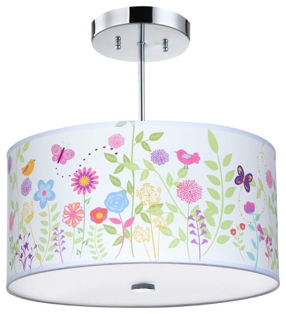Flowers And Birs Light Fixture