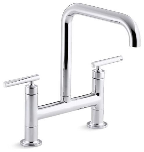 Kohler Purist Deck-Mount Bridge Kitchen Faucet w/ 8-3/8\