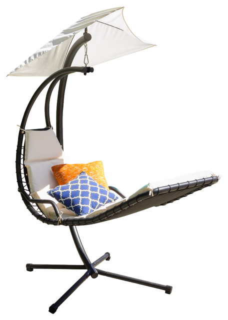 Captivating Avera Steel Hanging Lounge Chair, White Modern Hammocks And Swing Chairs