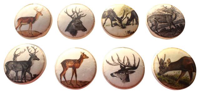 ... Design Set of 8 Deer Cabinet Knobs - Cabinet And Drawer Knobs | Houzz