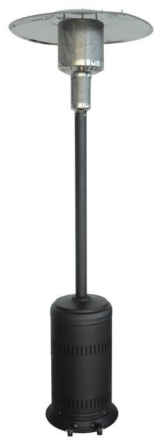Patio Heater, Tall, Umbrella Style, Black.