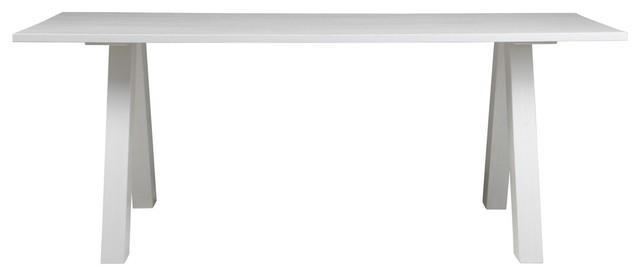 Table manger pin blanc 200x90 jana couleur blanc - Table a manger blanc ...