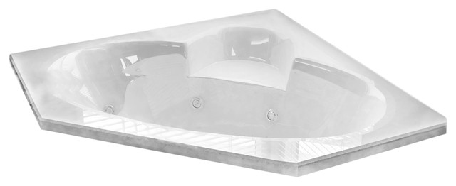 Carracci 60 X 60 Corner Drop-In Bathtub With Whirlpool Jetted & Air Therapy Jets.