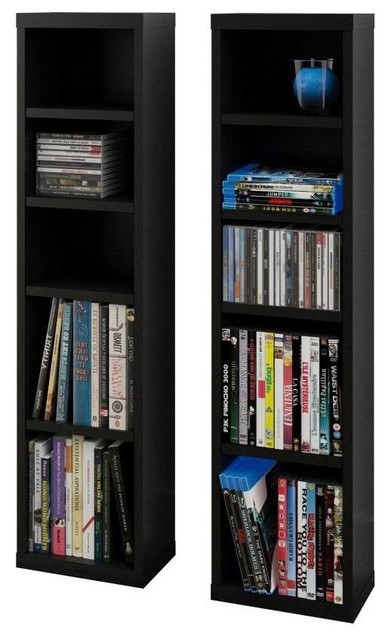Eco-friendly CD and DVD Towers, Set of 2 - Media Cabinets - by ShopLadder
