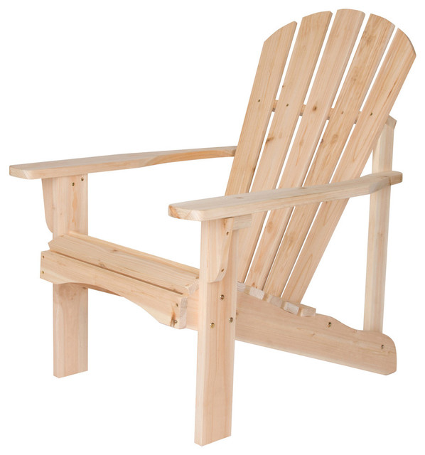 Superbe Plymouth Adirondack Chair, Unfinished