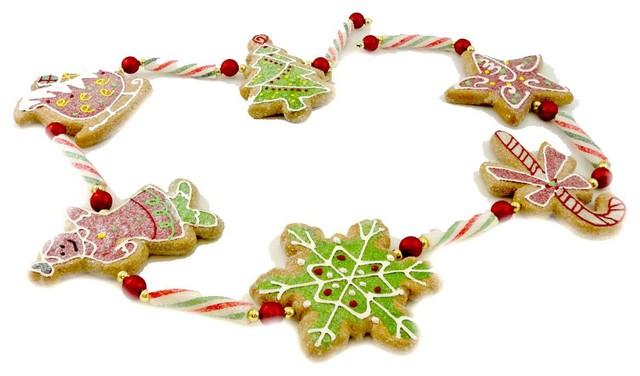 Holiday Ornament Gingerbread Garland Mixed Media Tree Sleigh Snowflake 3324318.