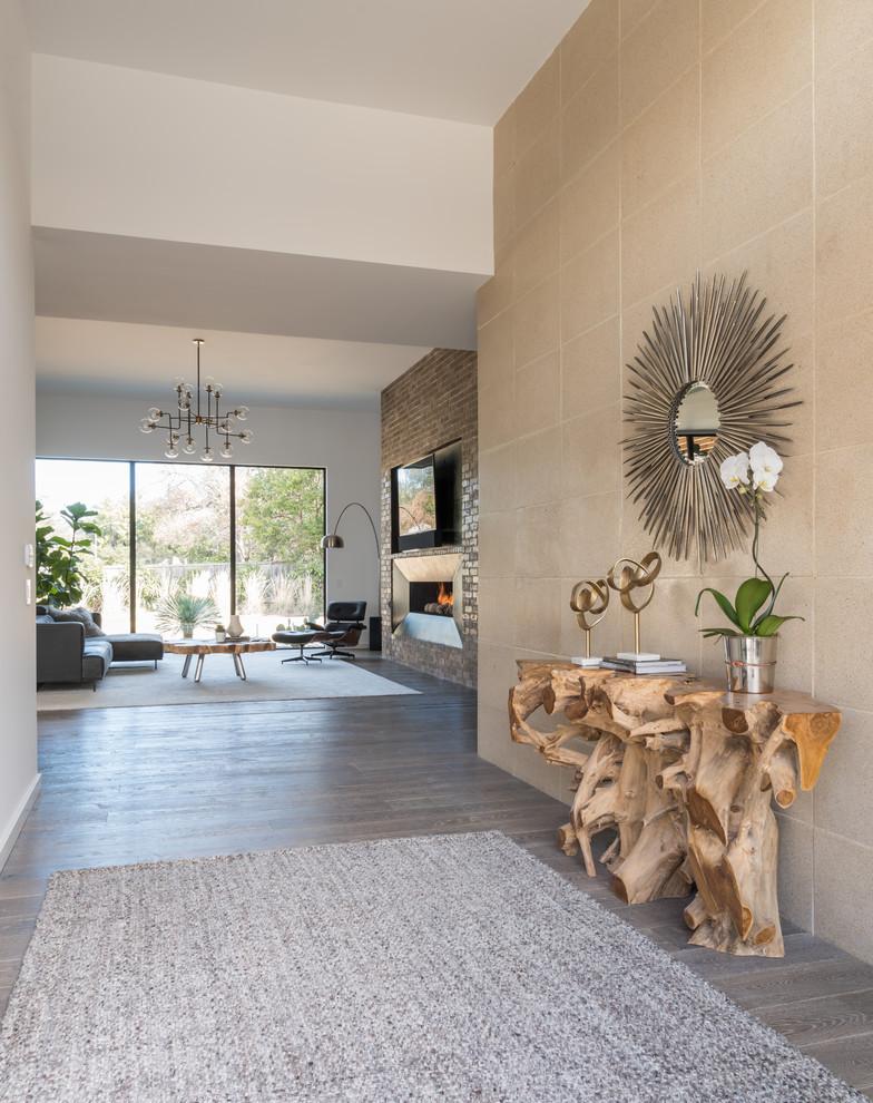 Inspiration for a contemporary home design remodel in Dallas