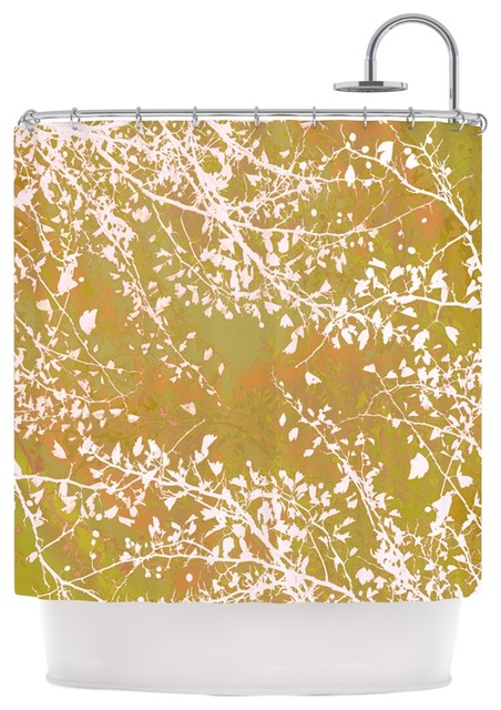 Iris Lehnhardt Twigs Silhouette Neutral Earthy Shower Curtain