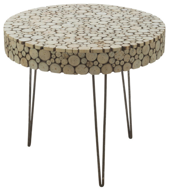 Wood Slice Coffee Table.Natural Wood Slice Side Table