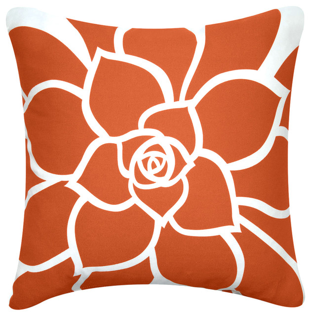 Wabisabi Green Bloom Organic Cotton Floral Throw Pillow - Decorative Pillows Houzz