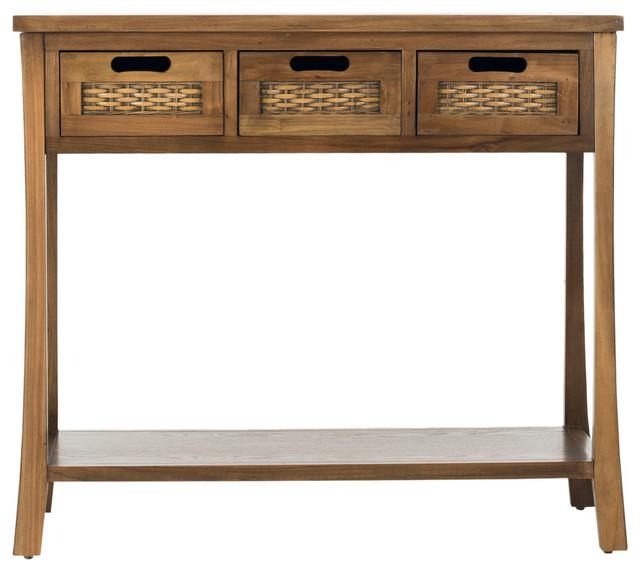 Safavieh Autumn 3 Drawer Console Table Oak
