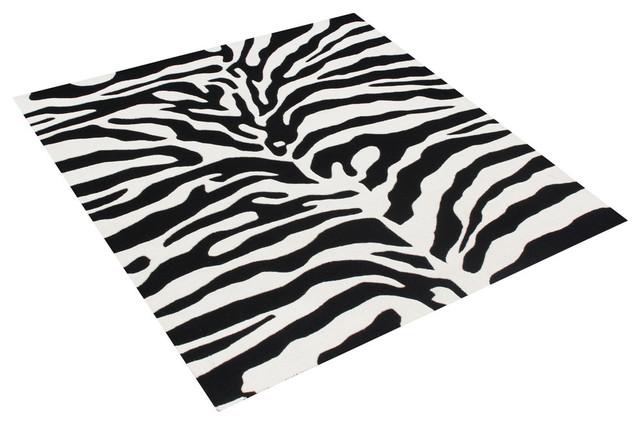 Alliyah Rugs Inc Zebra Pattern Rug Area Rugs Houzz