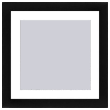 11x11 Black Picture Frame, Matted To Fit Pictures 8x8 ...
