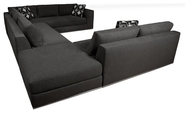 Pavo U Shaped Modern Sectional, 4 Piece Set Modern Sectional Sofas