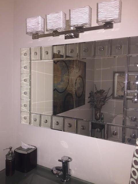 Powder room vanity lighting