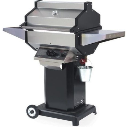 Phoenix Stainless Steel Grill Head On Patio Base, Liquid Propane.