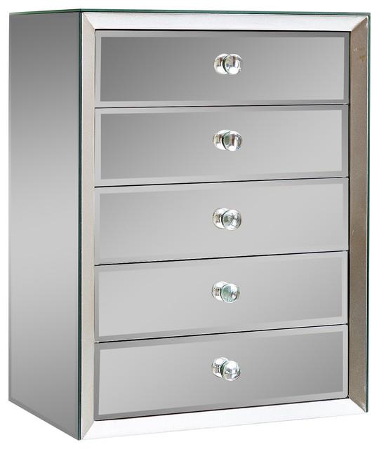 omni mirrored 5 drawer jewelry box contemporary jewelry boxes