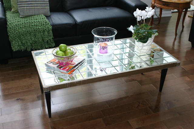 Peachy Diy Mirrored Coffee Table Eclectic Montreal By Julie Uwap Interior Chair Design Uwaporg