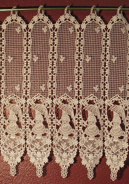Ring lace traditional curtains san diego by old world lace
