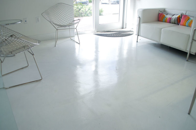 Microtopping and polished concrete miami von perfect for Perfect concrete floors