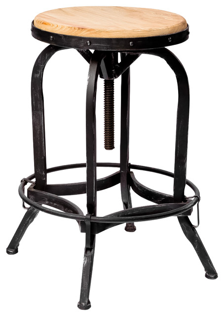 Industrial Adjustable Height Swivel Seat Stool