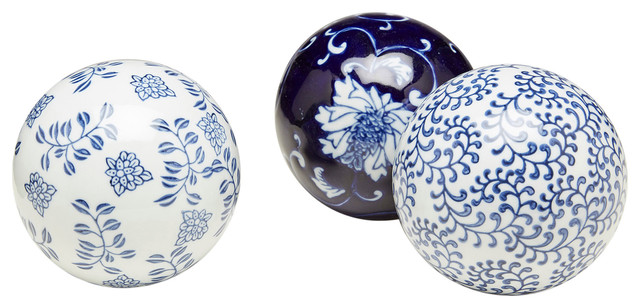 Orchard creek designs blue and white porcelain balls