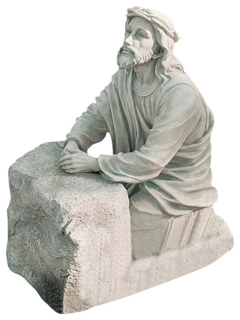 Jesus In The Garden Of Gethsemane Sculpture Traditional Garden Statues  And Yard